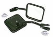 Side Mirrors with Convex Glass, Black, 55-86 Jeep CJ Models by Rugged Ridge