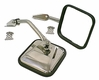 Side Mirrors with Convex Mirror, Stainless Steel, 55-86 Jeep CJ Models by Rugged Ridge