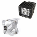 Small X-Clamp & Cube LED Light Kit, Silver, Single by Rugged Ridge
