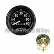 Speedometer Assembly for Military Trucks, 0-60 MPH, MS39021-2