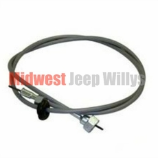 """Speedometer Cable, 60"""" Long, 3 Speed Transmission, fits 1941-1975 Jeep MB, GPW, CJ2A, CJ3A, CJ3B, CJ5, CJ6 and 4WD Willys Truck and Station Wagon"""