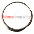 Stainless Steel Speedometer Bezel, fits 1955-1986 Jeep CJ3B, CJ5, CJ6, CJ7 and CJ8 Scrambler