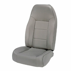 High-Back Front Seat, Non-Recline, Gray, 76-02 Jeep CJ and Wrangler by Rugged Ridge