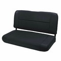 Fixed Rear Seat, Black, 55-95 Jeep CJ and Wrangler by Rugged Ridge