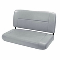 Standard Replacement Rear Seat, Gray, 55-95 Jeep CJ and Wrangler by Rugged Ridge