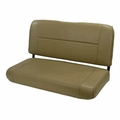 Fixed Rear Seat, Tan, 55-95 Jeep CJ and Wrangler by Rugged Ridge