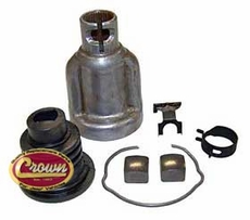 Steering Shaft Coupling Kit, Fits 1976-1986 CJs w/ Power Steering