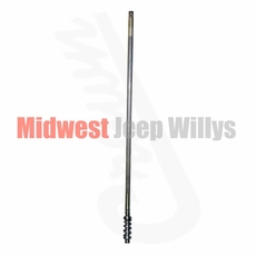 "Steering Worm Shaft, 42-7/16"" Length, Fits 1952-1966 Willys M38A1, 1966-1971 CJ5, CJ6 with V6 Engine"