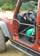 Steinjager Front Tube Door Kit, Black in Color, fits 2 or 4 Door 2007-2015 Jeep Wrangler JK