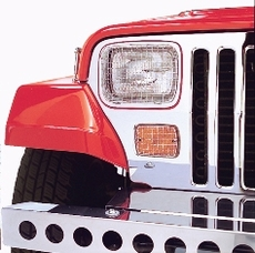 Stone Guard Set, Stainless Steel, 87-95 Jeep Wrangler by Rugged Ridge