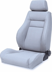 Ultra Front Seat, Reclinable, Gray, 76-02 Jeep CJ and Wrangler by Rugged Ridge
