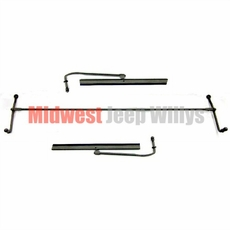Tandem Hand Operated Windshield Wiper Kit, Fits Willys Jeep 1941-1945 MB, 1941-45 GPW