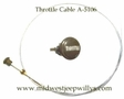 Throttle Cable Assembly Fits Willys MB, GPW, M38, M38A1