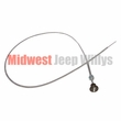 Throttle Cable, With Black Knob, 1945-1971 CJ2A, CJ3A, CJ3B, DJ3A, CJ5, CJ6