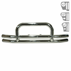 3-Inch Stainless Steel Front Tube Bumper, 55-06 Jeep Models by Rugged Ridge