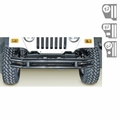 3-Inch Double Tube Bumper, 76-06 Jeep CJ and Wrangler by Rugged Ridge