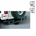 3-Inch Double Tube Rear Bumper With Hitch, 55-86 Jeep CJ Models by Rugged Ridge