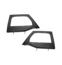 Upper Soft Door Kit, Front, Black Diamond, 07-17 Jeep Wrangler by Rugged Ridge