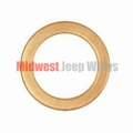 Small Washer, Between Outlet Fitting & Fitting Bolt Fits 1941-71 Jeep & Willys