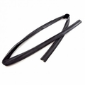 3) Window Glass Weatherstrip, Right Front Glass Run Seal, 1984-1996 4 Door Jeep Cherokee XJ