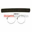 Willys Pick-up, Wagon 4-1/2 inch diameter fresh air box hose pre-cut 38 inches w/ hose clamps. Replaces 696657 and 953438
