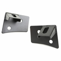 Windshield Auxiliary Light Brackets, Textured Black, 07-17 JK Wrangler by Rugged Ridge