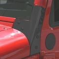 Windshield Hinges, Black, 07-17 Jeep Wrangler by Rugged Ridge