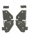 Windshield Hinges, Black, 76-86 Jeep CJ and 87-95 Jeep Wrangler by Rugged Ridge
