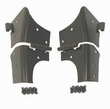 Windshield Hinges, Black, 97-06 Jeep Wrangler by Rugged Ridge