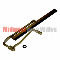 Single Windshield Wiper Assembly, Manual Operation, fits 1941-1945 Willys Jeep MB, Ford GPW