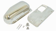 Wiper Motor Cover Kit, Stainless Steel, 76-86 Jeep CJ Models by Rugged Ridge