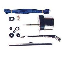 Wiper Motor Kit, 12 Volt, Stainless Steel Universal Application, 1941-1968 MB, GPW, CJ2A, CJ3A, DJ3A, CJ3B, CJ5, CJ6
