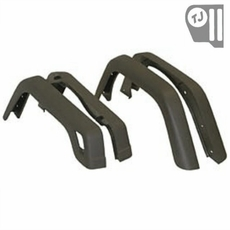 4 Piece Factory-Style Replacement Fender Flare Kit, fits 1997-06 Jeep Wrangler TJ and 2004-06 Wrangler LJ