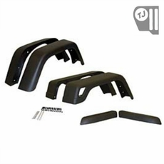 7-inch Wide, 6 Piece Factory-Style Replacement Fender Flare Kit, fits 1997-06 Jeep Wrangler TJ and 2004-06 Wrangler LJ