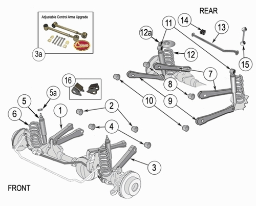 Wrangler TJ Suspension Parts 1997-2006