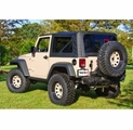 XHD Sailcloth Replacement Top, Black, 07-09 Jeep Wrangler by Rugged Ridge