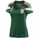 adidas Women's Mexico 2014 Home Jersey