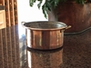 Rustic Copper Planter Pot with two handles from Copper Proper