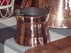 Jagged Top Edge Copper Proper Flower Pot
