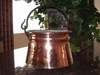 Large Rustic Copper Proper Planter with handle