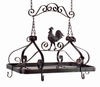 Medium Rooster Kitchen Pot Rack - Copper Proper Kitchen Collection