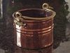 Rustic Copper Proper Planter with handle