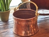 Rustic, Unique Copper Proper Planter with handle