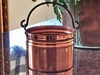Smaller Rustic Copper Proper Planter with handle