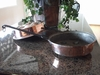 Very Large, Rustic, Distressed Copper Pan from Copper Proper