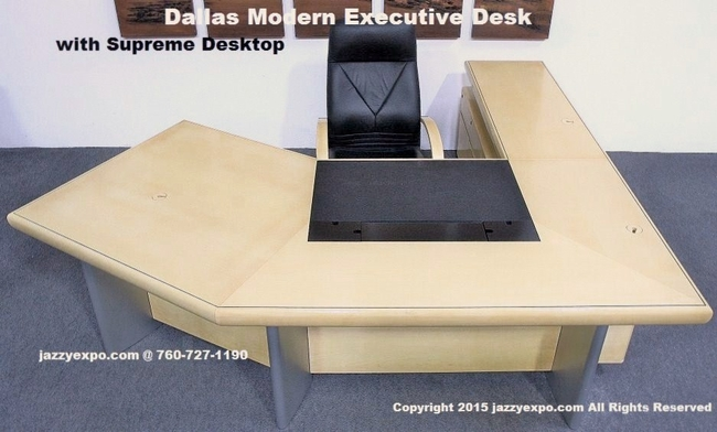 Light Maple Office Desk Dallas Model