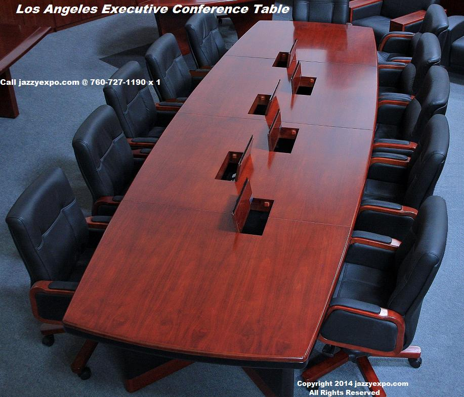 Conference Table With Data PortsBaltimore Boardroom Table - 14 ft conference table