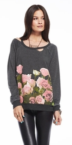 Chaser Women's Floral Border Lightweight Fleece