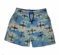 Europann Boys Airplaines Swim Trunks