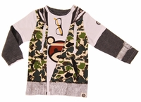 Mini Shatsu Camouflage Hooded Vest Twofer Tee